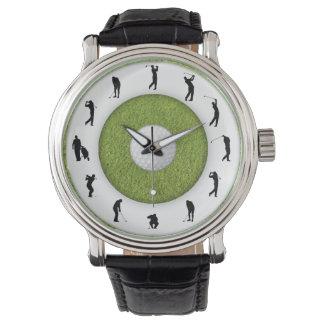 Golf Player Golfer Grass Design Watch