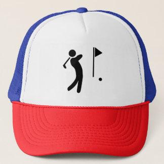 Golf Player Silhouette Trucker Hat