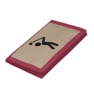 Golf Player Tri-fold Wallet