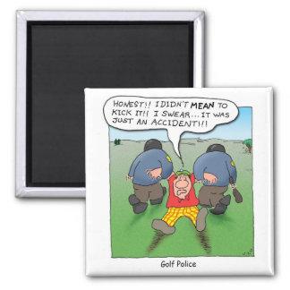 Golf Police Square Magnet