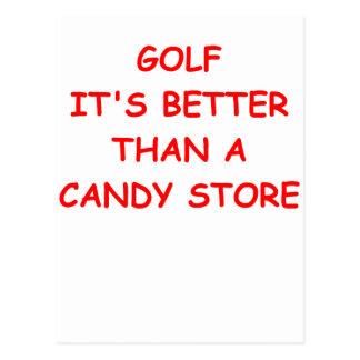 golf post cards