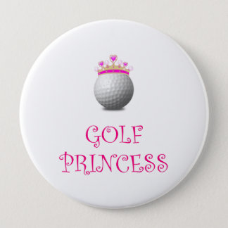 Golf Princess 10 Cm Round Badge