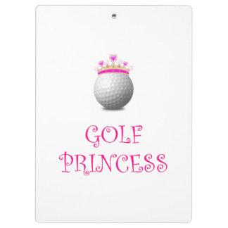 Golf Princess Clipboards