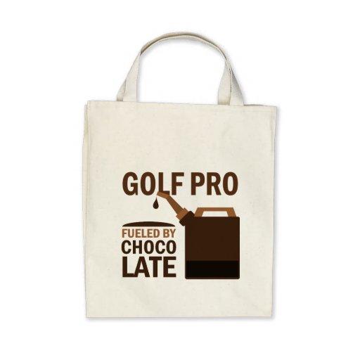 Golf Pro (Funny) Chocolate Canvas Bag