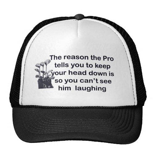 golf pro hat