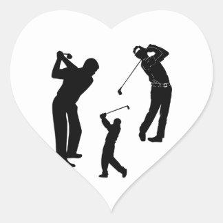Golf Pro Heart Sticker