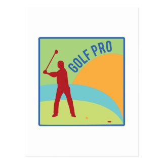 Golf Pro Postcard