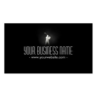 Golf Pro Professional Classy Dark Pack Of Standard Business Cards