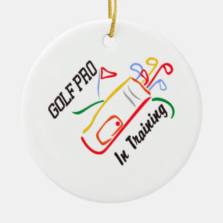 Golf Pro Round Ceramic Decoration