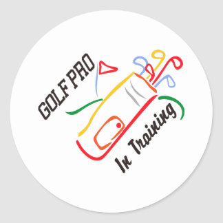 Golf Pro Round Sticker