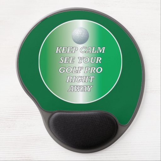 Golf Pro Stay Calm Mousepad Gel Mousepad