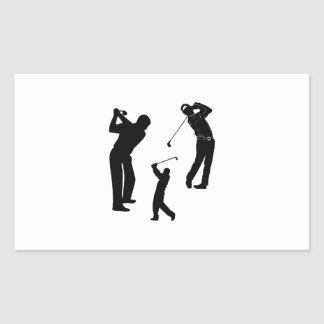 Golf Pro Rectangle Stickers