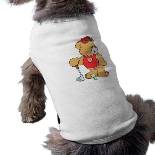 Golf Pro Teddy Bear Dog T Shirt