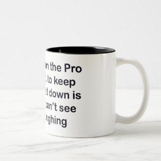 golf pro Two-Tone coffee mug