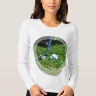 Golf Putt Long Sleeve LadiesT-Shirt T Shirt