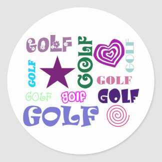 Golf Repeating Stickers
