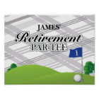 Golf Retirement Party Poster