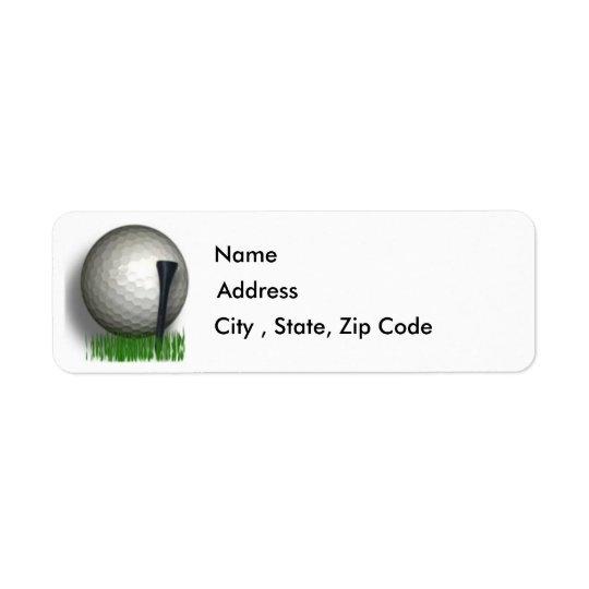 Golf Return Address Label