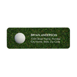 Golf Return Address Label