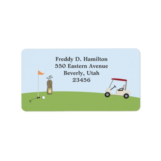 Golf Return/Shipping Address Labels
