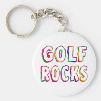 Golf Rocks Key Ring