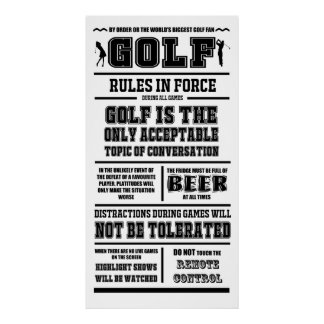 Golf Rules In Force Poster