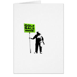 Golf Sale Greeting Card