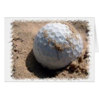 Golf Sand Pit Design Greeting Card