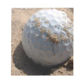 Golf Sand Pit Design Notepad