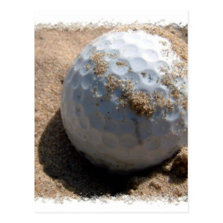 Golf Sand Pit Design Postcard