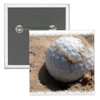 Golf Sand Pit Design Square Button