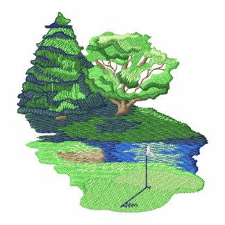 Golf Scene Embroidered Hoody