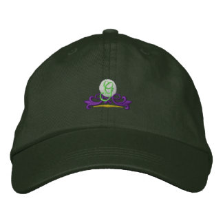 Golf Scroll Embroidered Hats