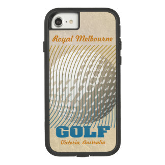 Golf series 1 blue on beige Case-Mate tough extreme iPhone 8/7 case