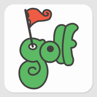 Golf Sign Stickers
