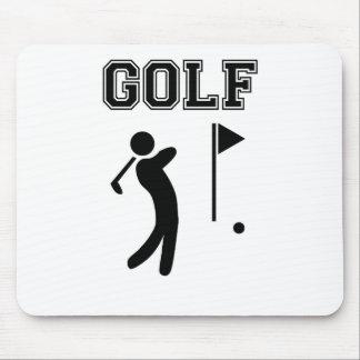 golf simple black design mouse pad