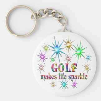 Golf Sparkles Key Ring