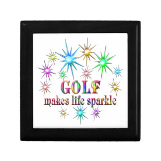 Golf Sparkles Small Square Gift Box