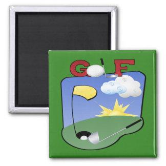 Golf Square Magnet