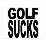 Golf Sucks Postcard