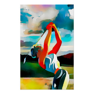 Golf Swing - Watercolour Art Print