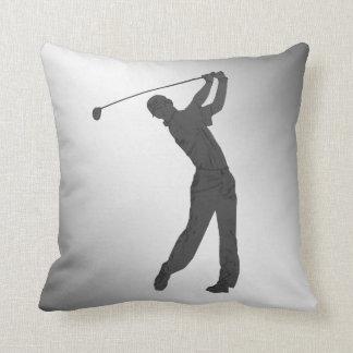Golf Swinger Customizable Throw Pillow