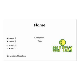 golf team logo design pack of standard business cards