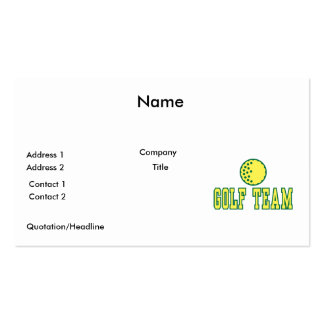 golf team logo design pack of standard business cards