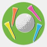 Golf Tees Sticker