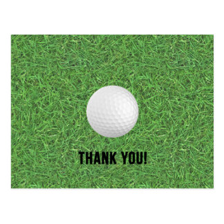 Golf Thank You Postcard