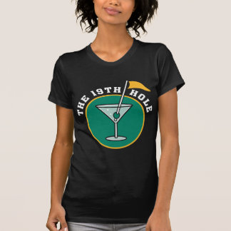 Golf The 19th Hole Drinking T-Shirt Tee Shirts
