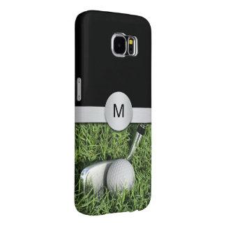 Golf Theme Monogram Style Samsung Galaxy S6 Cases