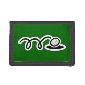 Golf theme wallets & coin purses | Personalizable