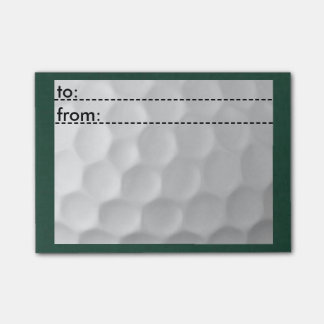 Golf themed 3x4 post it notes